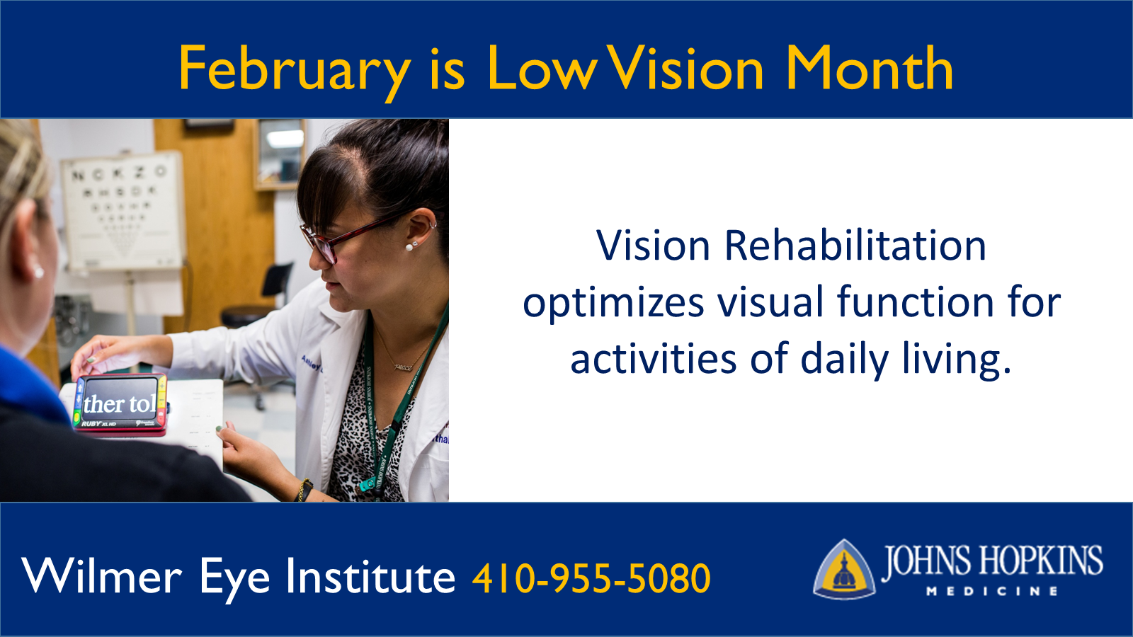 February is Low Vision month